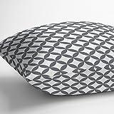 Izabela Peters Coussin d'extérieur décoratif de luxe en tissu imperméable,collectionMarrakech,conçu, imprimé et fait à la main au Royaume-Uni (plusieurs coloris disponibles) Bahia - Grey & White