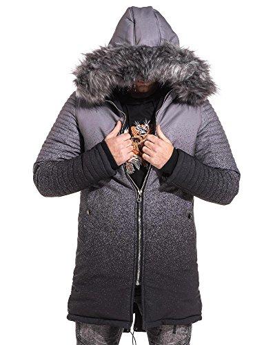 Project X - Parka homme rembourrée tie and dye gris et noir - couleur: Gris - taille: M/L