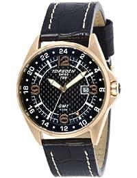 Torgoen T25101 - Reloj de caballero de cuarzo, correa de piel color negro