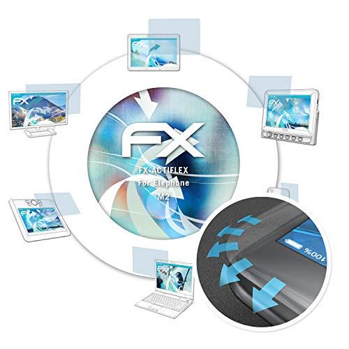 atFolix Schutzfolie passend für Elephone M2 Folie, ultraklare & Flexible FX Bildschirmschutzfolie (3X)