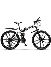 Bicicleta De Montaña Plegable 21/24/27/30 Velocidad 24 Pulgadas Y 26 Pulgadas Freno De Disco De Doble Amortiguación 10 Ruedas De Corte Bicicleta De Montaña