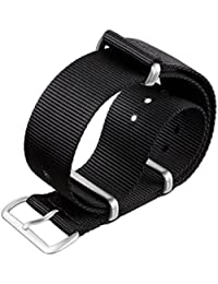 NATO G10 ZULUDIVER® Black Nylon Military Watch Strap with a choice of Buckle Finishes