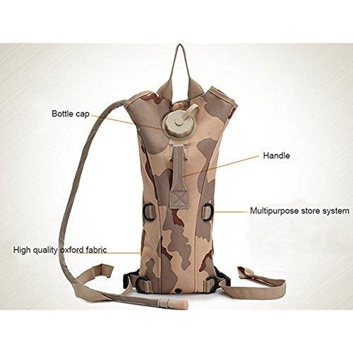 ZN Multicolor 3L Hydration Packungen Tactical Wasser Tasche Assault Rucksack Wandern Tasche Khaki
