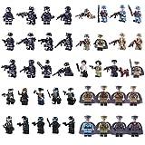 15000P 42St. Mini Figuren Set SWAT Team Polizei Minifiguren Satz Bausteine für Kinder