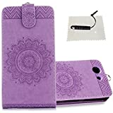 Sony Xperia Z3 Compact Wallet Case,TOCASO Sony Xperia Z3 Compact Embossed Mandala Hülle Leder Tasche Sony Xperia Z3 Compact Wallet Case Handytasche Ständer Karte Halter -Mandala