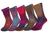sockenkauf24 1 Paar ABS Socken - jedes Paar ein Unikat - warme Damensocken mit Anti Rutsch Noppen - 71500
