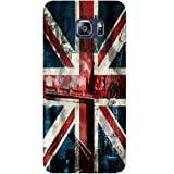 Casotec London Flag wallpaper Design Hard Back Case Cover for Samsung Galaxy S6 edge Plus