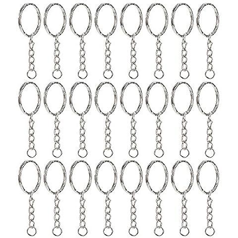 Willbond 50 Pieces Key Ring Key Chain Ring Split Rings