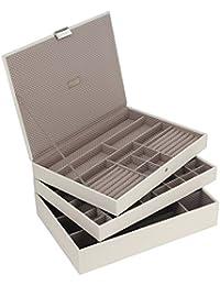 Stackers By LC Designs Braun Gestreift Herren Schmuck Ablage Tablett Tief