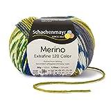 Pflegeleichte Winterwolle Merino Extrafine Color 120 von Schachenmayr london (Fb 492) für Strickaccessoires mit hohem Tragekomfort und Farbmustern direkt vom Knäul, Easy-Start-System, 100% Merinowolle, kratzfreies Strickgarn, trocknergeeignet