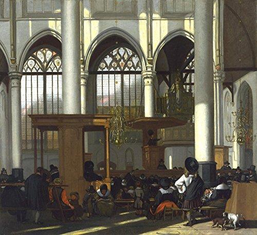 Das Museum Outlet–Innere der Oude Kerk in Amsterdam (1), gespannte Leinwand Galerie verpackt. 40,6x 50,8cm