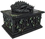 Nemesis Now Dragon Tarot Card Box Articolo decorativo grigio