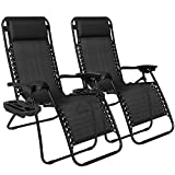 Chillax New Set of 2 Adjustable Zero Gravity Lounge Chair Recliners for Patio