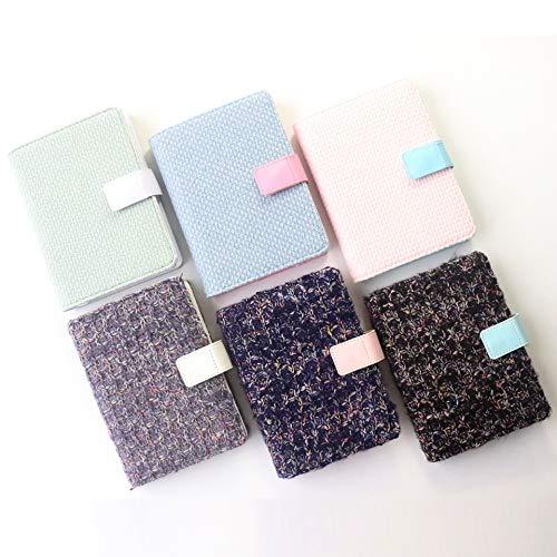 Niedliche Winterserie Stoff Hardcover Büro Schule Tagebuch Notizbücher Briefpapier, feine persönliche Agenda Planer Veranstalter, A6