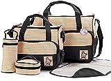 Babyhugs® 5pcs Baby Nappy Changing Diaper Bag Set - Black