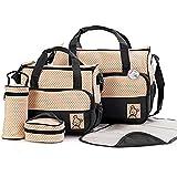 Babyhugs 5pcs Baby Nappy Changing Diaper Bag SET - Black