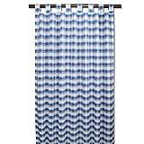 """SeGaTeX home fashion Schlaufenschal Küchengardine """"Melli in Blau"""" mit 8 Schlaufen Blau-weiß-Kariert Vorhang Übergardine"""