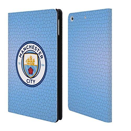 Ufficiale Manchester City Man City FC Blu mattonella mosaico colore Badge Pixel Cover a portafoglio in pelle per Apple iPad mini 4