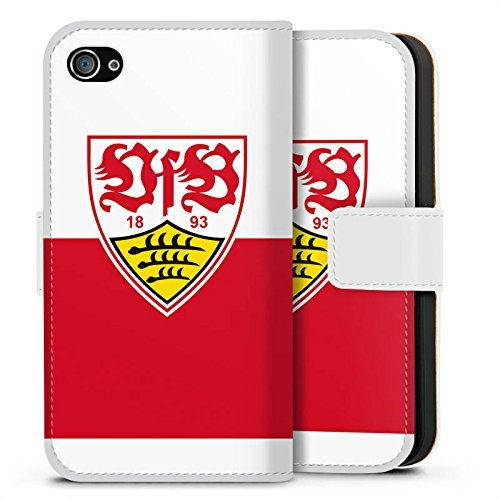 Apple iPhone 8 Hülle Case Handyhülle VfB Stuttgart Fanartikel Fußball Sideflip Tasche weiß