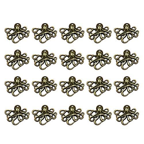 FENICAL 20 stücke Schmuck Machen Charms Legierung Octopus Charms Anhänger für Halskette Armband Schmuck Machen Zubehör (Bronze) (Reize Großhandel Schmuck)