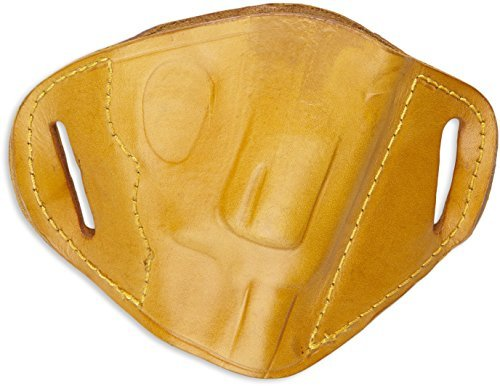 Bulldog Cases MLT-RS Belt Slide Holster, Tan, Small, Right Hand by Bulldog Cases (Slide Belt Holster)