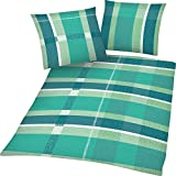 Dreamhome24 4 teilige Microfaser Bettwäsche Bettbezug 4 Jahreszeiten mit RV 135x200 80x80, Design - Motiv:1