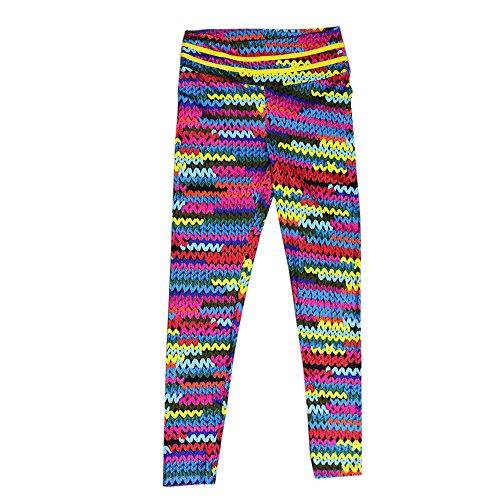 Leggins de Yoga Mujer SUNNSEAN Colores Mezclado a Rayas de Cebra Cintura Alta Elásticos Deportivos para Correr Gimnasio Fitness Pantalones Largas Trousers