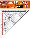 Maped m028700Triangle Géométrie avec poignée, 1pièce, 26cm