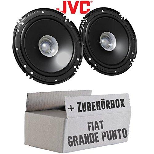 Lautsprecher Boxen JVC CS-J610X - 16cm Auto Einbauzubehör 300Watt Koaxe KFZ PKW Paar - Einbauset für FIAT Grande Punto 199 Front - JUST SOUND best choice for caraudio