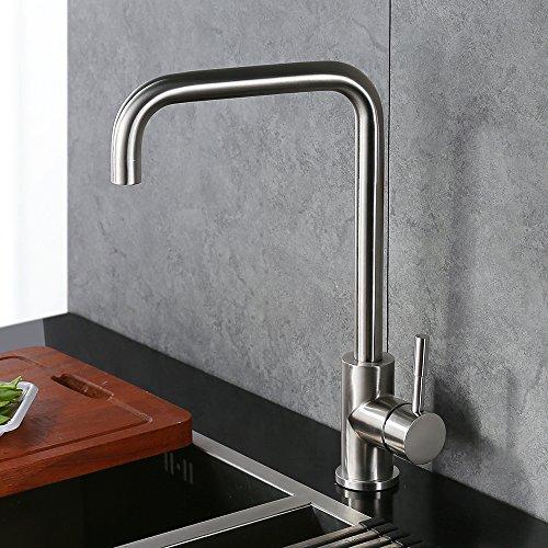 Homelody 360° drehbar Küchenarmatur Spültischarmatur Einhebelmischer Küche Wasserhahn Spültisch Armatur Spüle Spülbecken Mischbatterie für Küchen - 2