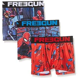 FREEGUN Boxer Spiderman Pantis (Pack de 3) para Niños