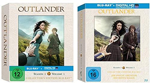 Outlander Staffel 1 Vol.1 + 1 Vol.2 (1.1+1.2) Hochwertige Collector's Editionen [Blu-ray Set]