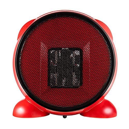 YSCCSY Mini Chauffe-Eau De Table De Ventilateur Rapide PTC Air Chaud Portable Petit PTC Céramique Ventilateur Chauffant Électrique 220V 500W Ventilateur À Air Chaud,Red