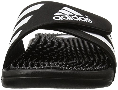 Adidas Mens Adissage Synthetic Sandals Noir Blanc