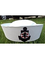 Interesting® Sombrero adulto del casquillo del marinero Sombrero unisex del funcionamiento del bordado de la etapa de la marina de guerra