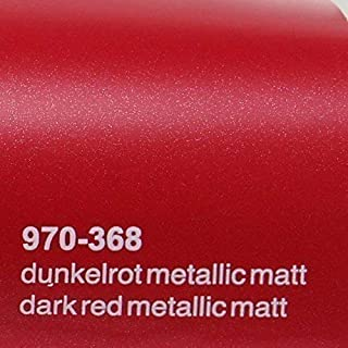 Oracal 970RA 368 Dunkel Rot Matt Metallic gegossene Profi Autofolie 152cm breit BLASENFREI mit Luftkanäle
