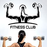 Fitness Club Gym Name Hanteln Aufkleber Mädchen Crossfit Aufkleber Bodybuilding Poster Vinyl...
