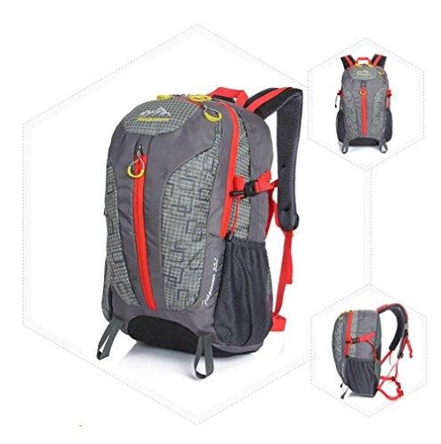 SZH&BEIB 35L im Freien wasserdichten Tasche Klettern Wanderrucksack Multifunktions-Camping Sport B