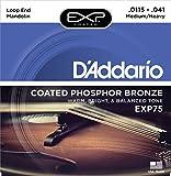 D\'Addario Cordes en bronze phosphoreux pour mandoline avec revêtement D\'Addario EXP75, Medium/Heavy 11.5-41