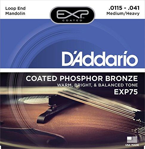 D\'Addario EXP75 Mandoline Saitensatz Phosphor Bronze, Medium