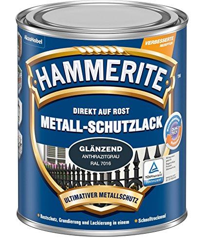 HAMMERITE Metall-Schutzlack Glaenzend Anthrazitgrau 750ML - 5272542