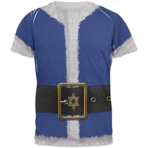 Weihnachten Chanukka jüdisches Santa Claus Kostüm aller Herren T Shirt Multi (Kostüme Chanukka)