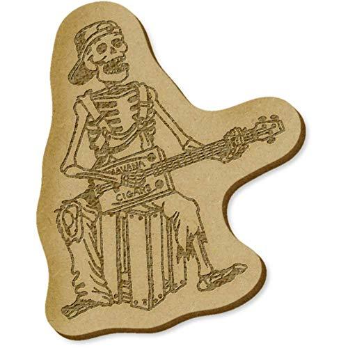 Azeeda 6 x 'Skelett mit Gitarre' MDF Craft Verzierungen (EB00007541)