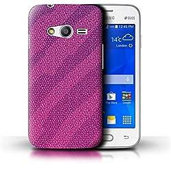 Stuff4 Coque de Coque pour Samsung Galaxy Trend 2 Lite/G318 / Lézard/Violet Design/Effet Peau Reptile Collection