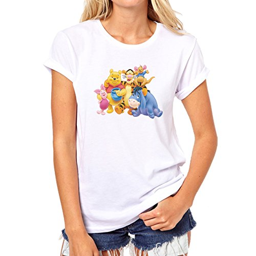 Pooh Family Damen T-Shirt Weiß