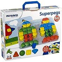 Miniland - Superpegs maletín cartón/estuche (95080)