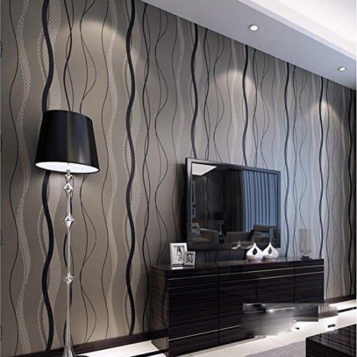 warmiehomy-33ft-mondern-wavy-stripe-flocking-non-woven-3d-wallpaper-backdrop-decking-black-grey
