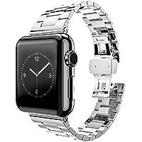 MPTECK® sostituzione Argento acciaio inox 38mm watch orologio cinturino braccialetto per Apple Watch APPLE WATCH II apple watch Series 1 Series 2 Serie 1 2 - Ancora Una Volta Serie