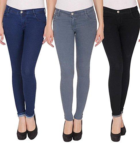 NJS Denim Women Jeans ACJ-WJE-NJs-B-NB-GR1002-32 Size Multi-Coloured (Pack of 3)