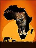 Posterlounge Leinwandbild 120 x 160 cm: Afrika der Schwarze Kontinent von Monika Jüngling - fertiges Wandbild, Bild auf Keilrahmen, Fertigbild auf Echter Leinwand, Leinwanddruck